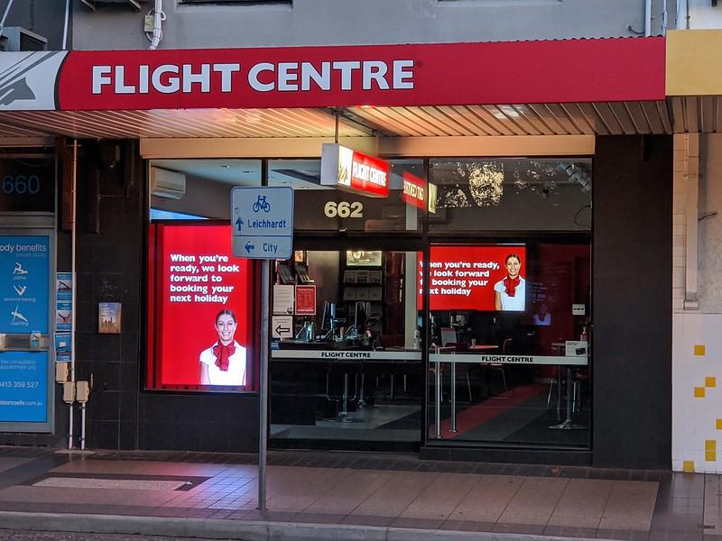 Flight Centre Rozelle during lockdown: it never re-opened