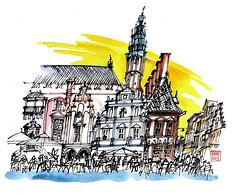 Haarlem Grote Markt (the Netherlands)