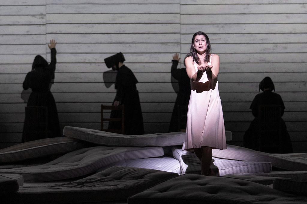 Asmik Grigorian as Jenůfa in Jenůfa, The Royal Opera ©2021 ROH. Photograph by Tristram Kenton