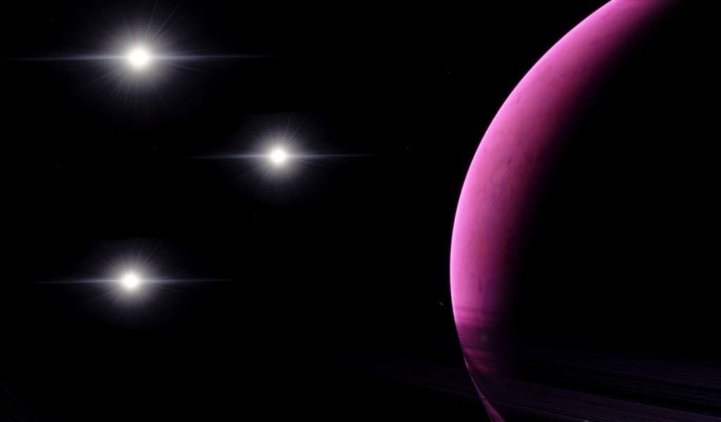 une-exoplanète-orbitant-autour-de-trois-étoiles