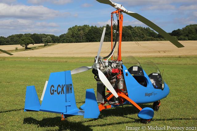 G-CKWR - 2018 build Magni M-16C Tandem Trainer, at Popham during the 2021 Microlight Trade Fair