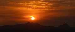 2021 06 Setting Sun above the Silver Bell Mountains