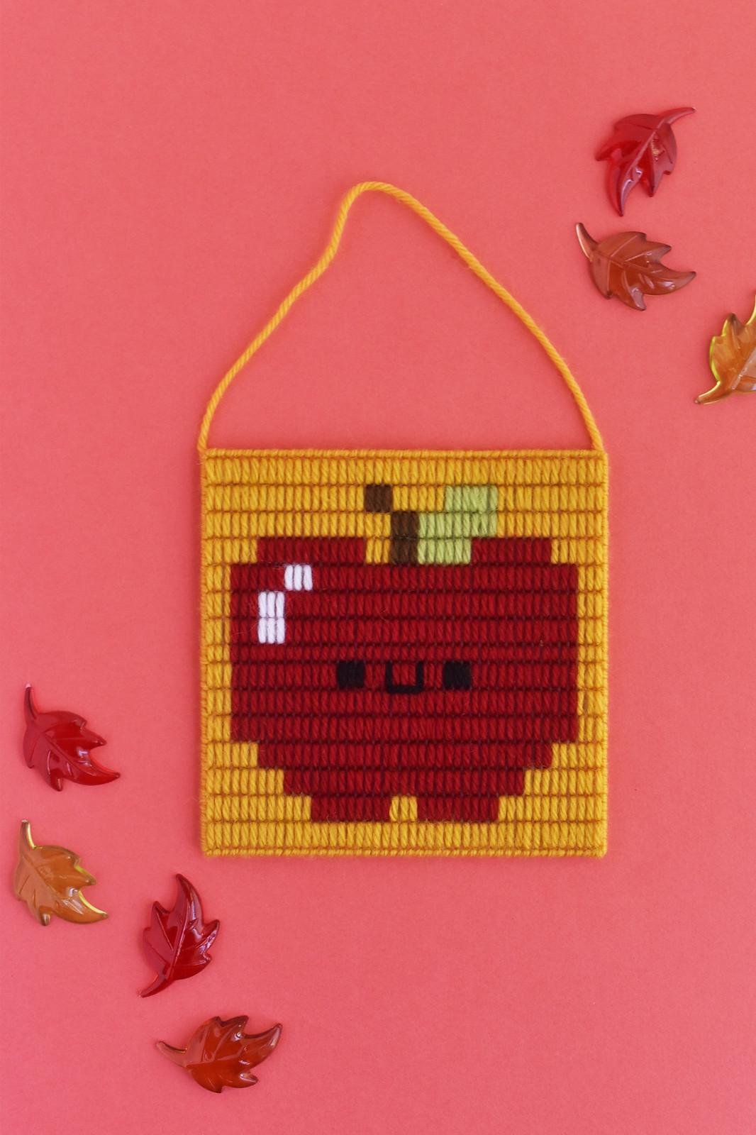 Apple Plastic Canvas Bargello Pixel Art