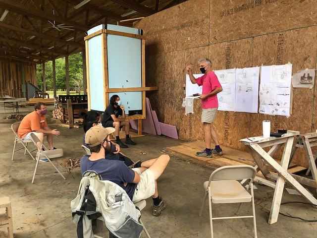 Andrew Freear speaks to Rural Studio workers.