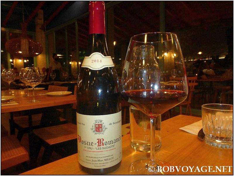 Domaine Jean Marc Millot Vosne Romanee 1er Cru Les Suchots 2014 ששתינו ב-מסעדת נומי (Nomi)