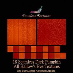 TT 18 Seamless Dark Pumpkin All Hallow's Eve Timeless Textures