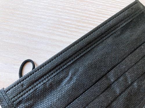 ダイソーの不織布ブラック(黒)マスク 口コミレビュー 30枚110円 その11