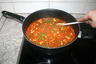 25 - Simmer peas / Erbsen köcheln lassen