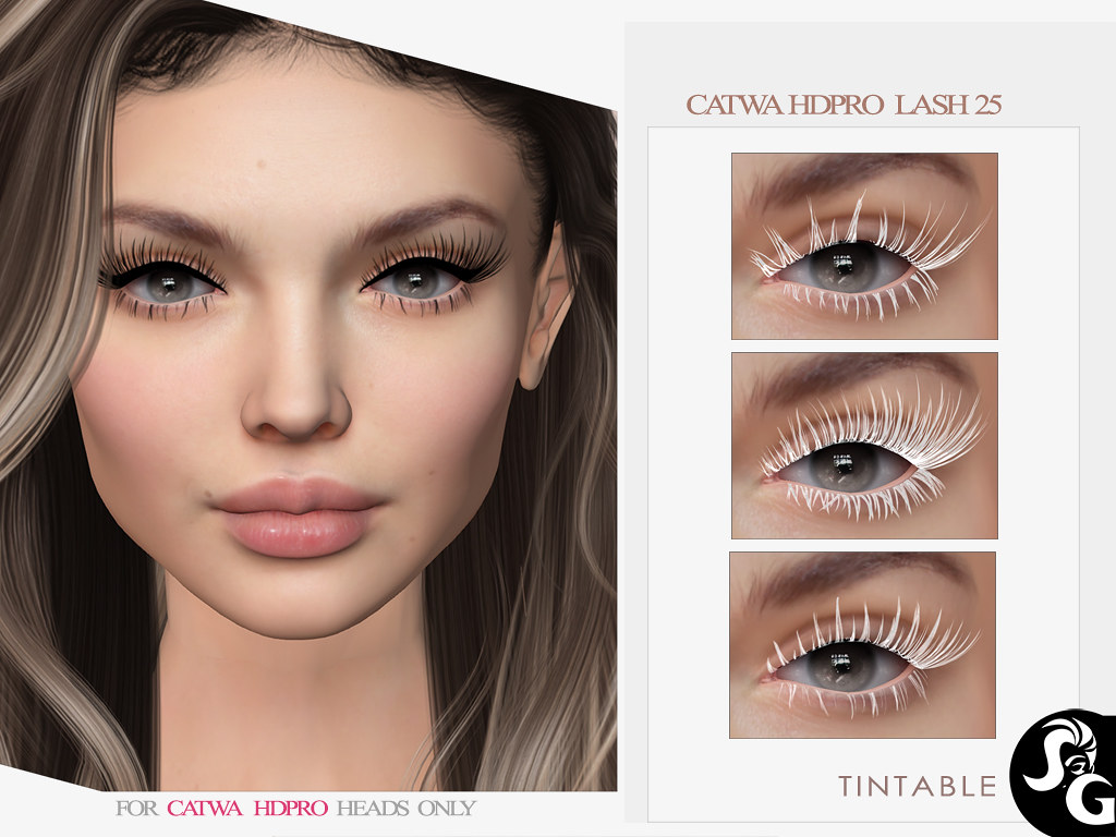 3 NEW TINTABLE LASHES CATWA HDPRO