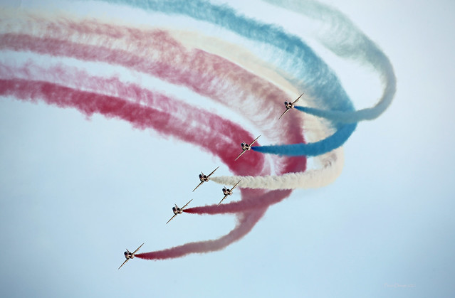 Red Arrows on display at Sanicole Sunset Air Show - G55A9678 - m s