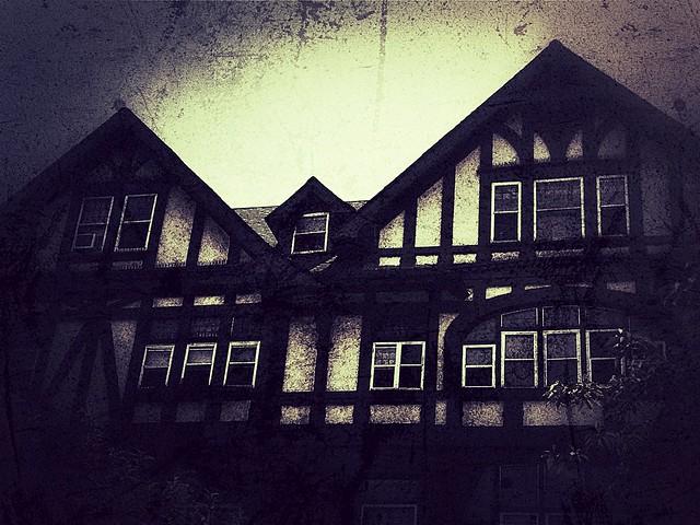 house in dark grunge style