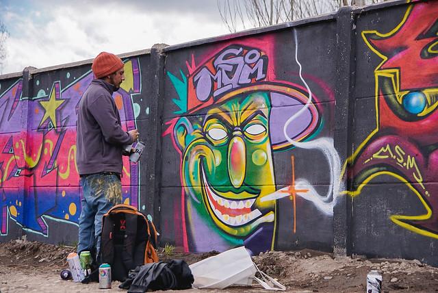 Grafiteros y Raperos de la regi�n de O'Higgins se tomaron la Ruta H-30