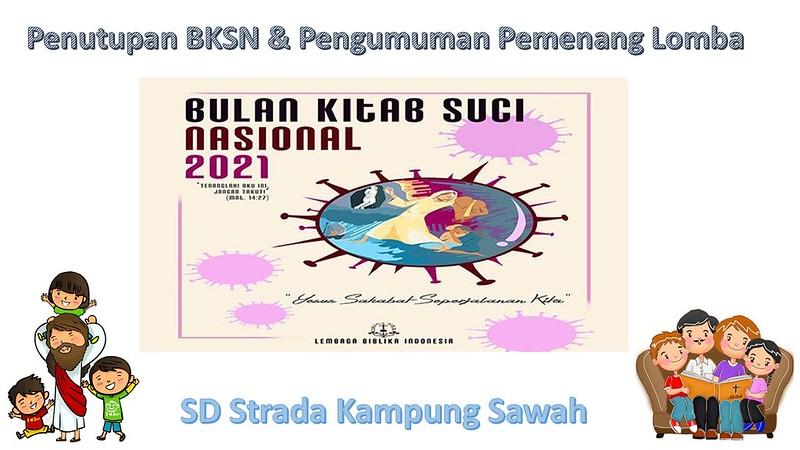 SD Strada Kampung Sawah Bertumbuh dalam Iman melalui Bulan Kitab Suci Nasional 2021