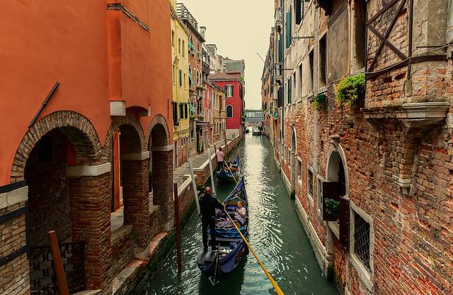 20140428_0511_Veneto-Venedig(285) - Gondeln in Venedig /  Gondolas in Venice