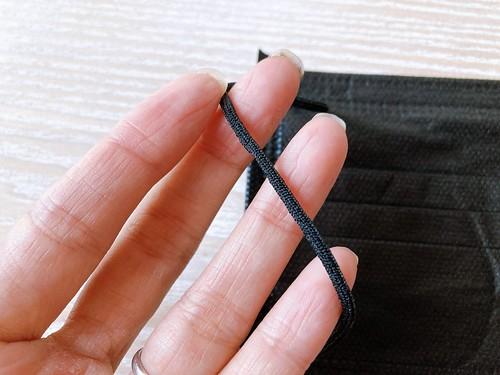 ダイソーの不織布ブラック(黒)マスク 口コミレビュー 30枚110円 その13