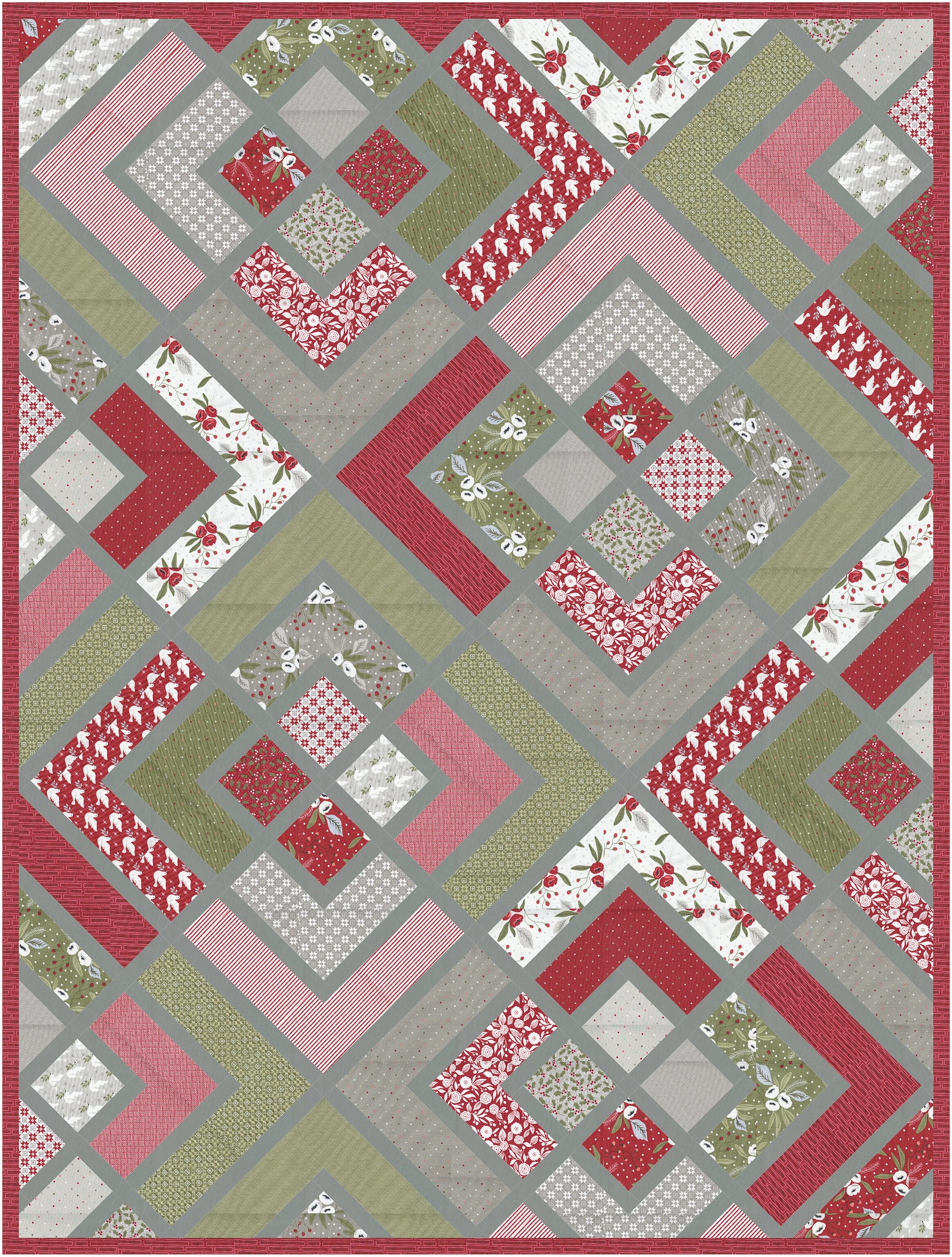 The Penny Quilt Fabric D Options - Kitchen Table Quilting
