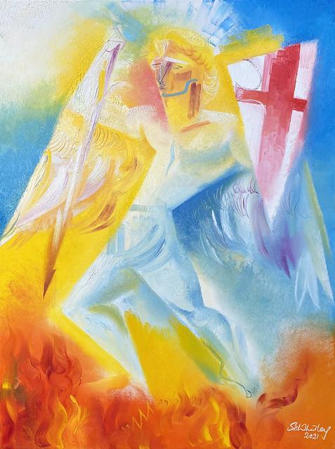 Saint Michael the Archangel. 2021 by Stephen B. Whatley