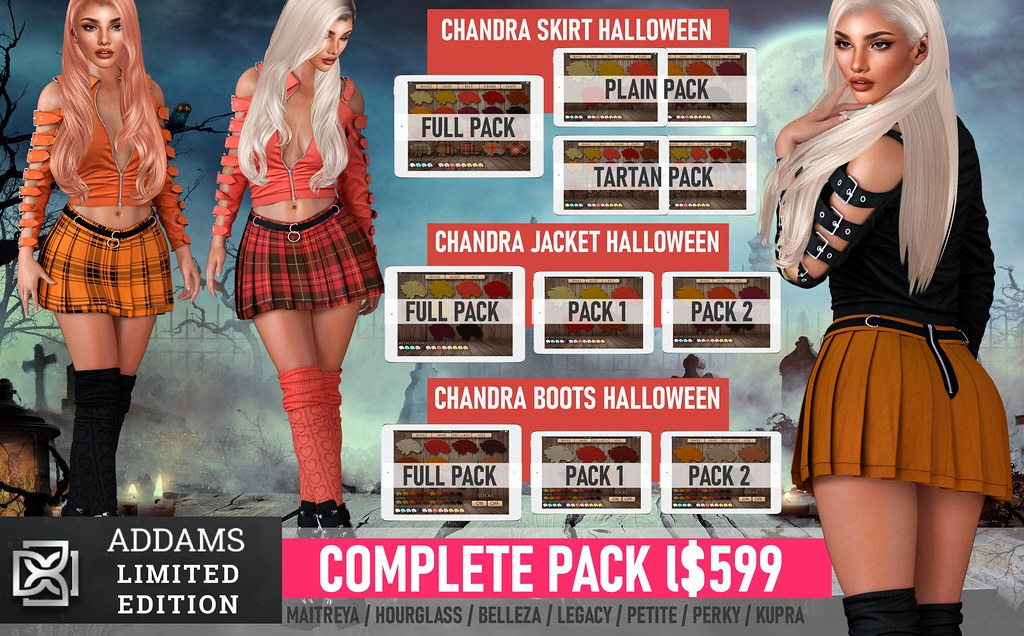 🎃Addams At Halloween Shop & Hop – Chandra Halloween Limited Edition, Credit Gift & Giveaway!🎃