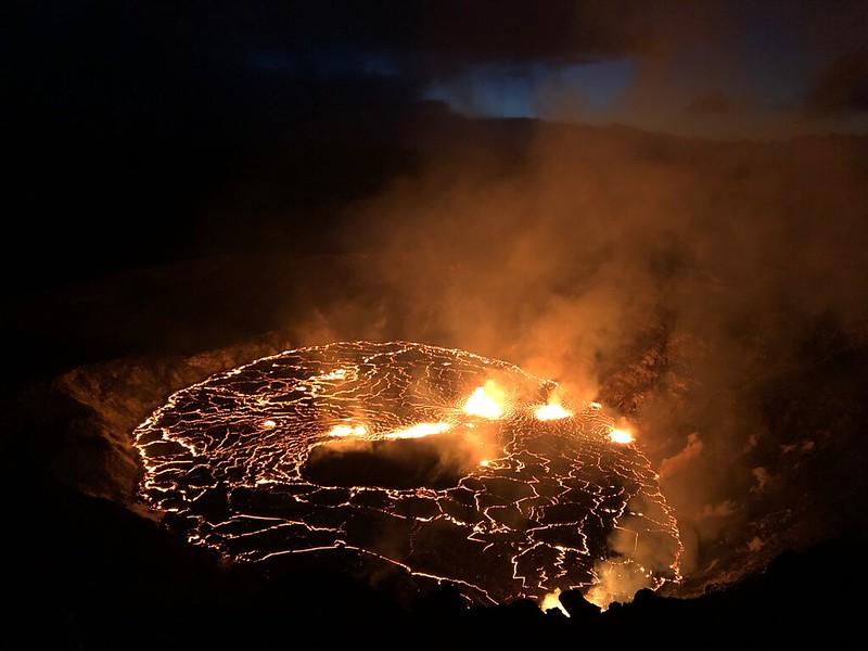Erupção do novo vulcão Kilauea