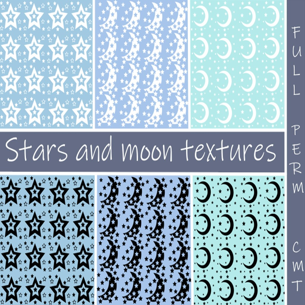 Stars and moon full perm. free texture pack gift!