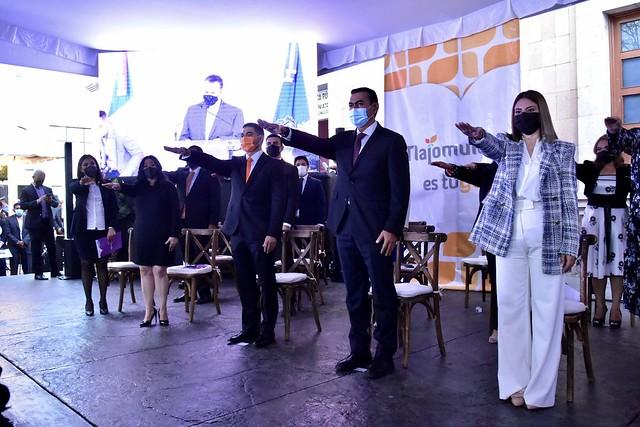 Toma de Protesta del Presidente Salvador Zamora y el Cabildo del Período 2021-2024