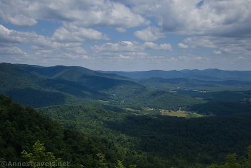 More views from the road-side pulloffs at Lover's Leap, Patrick County, Virginia