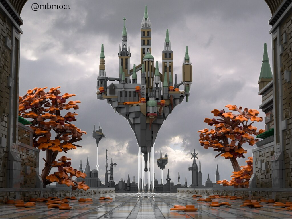 LEGO Microscale Floating Castle
