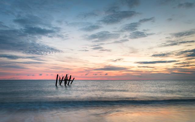 Happisburgh Beach Norfolk at Sunrise