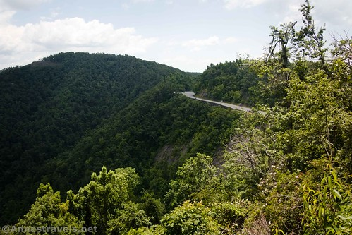 The road from the second viewpoint at Fred Clifton Park and Lover's Leap, Virginia