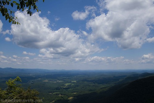 More clouds and views from Lover's Leap, Patrick County, Virginia