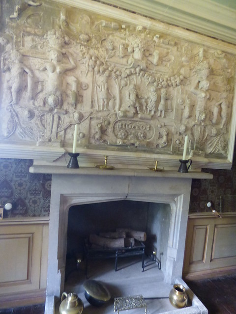 Inside of Dunster Castle - Fireplace in The King Charles Room