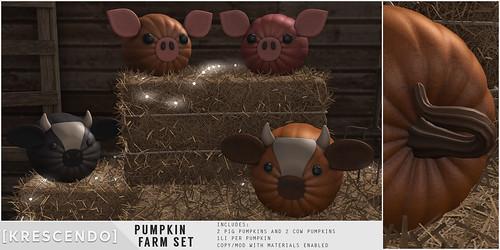 [Kres] Pumpkin Farm Set