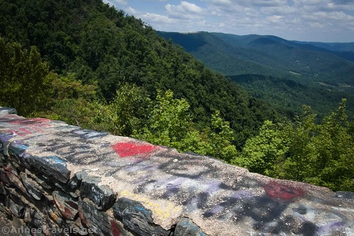 Stone wall at Lover's Leap, Virginia