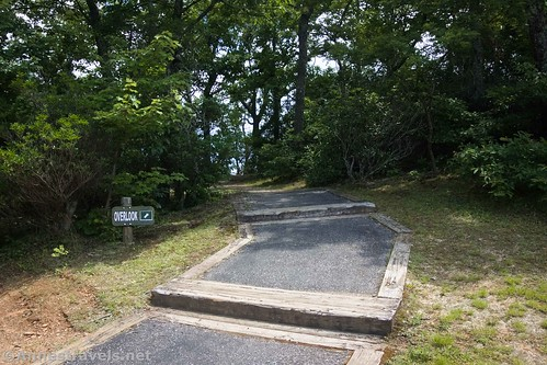 Trail up to the viewpoints in Fred Clifton Park, Lover's Leap, Virginia