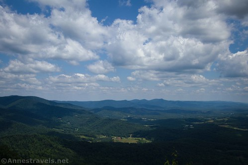 Views from the pulloff at Lover's Leap near the Blue Ridge Parkway, Virginia