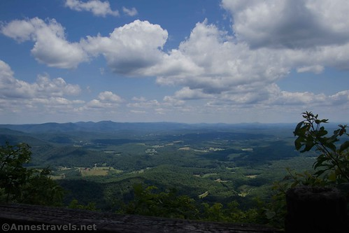 Views from one of the viewpoints in Fred Clifton Park, Lover's Leap, Virginia