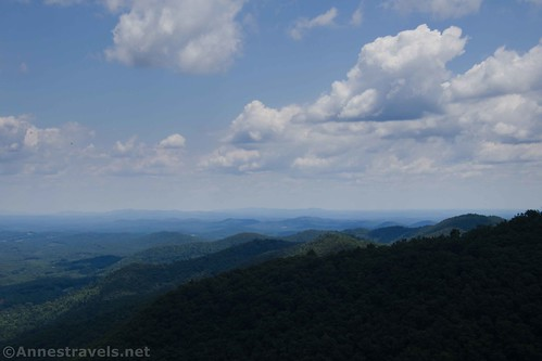 The Blue Ridge Mountains from Lover's Leap, Virginia