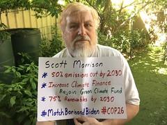 Message to PM Scott Morrison: Match Boris and Biden for COP26
