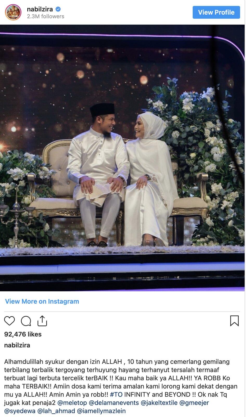 Nabil Ahmad Sambut Ulangtahun Perkahwinan Ke-10 Di Program Meletop