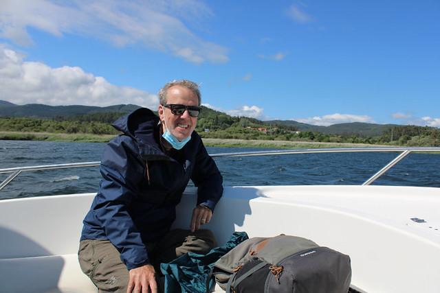 Pilgrim boat, Heading upriver, Galicia