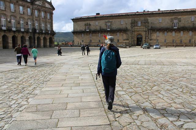 Arriving in Santiago de Compostela, Galicia