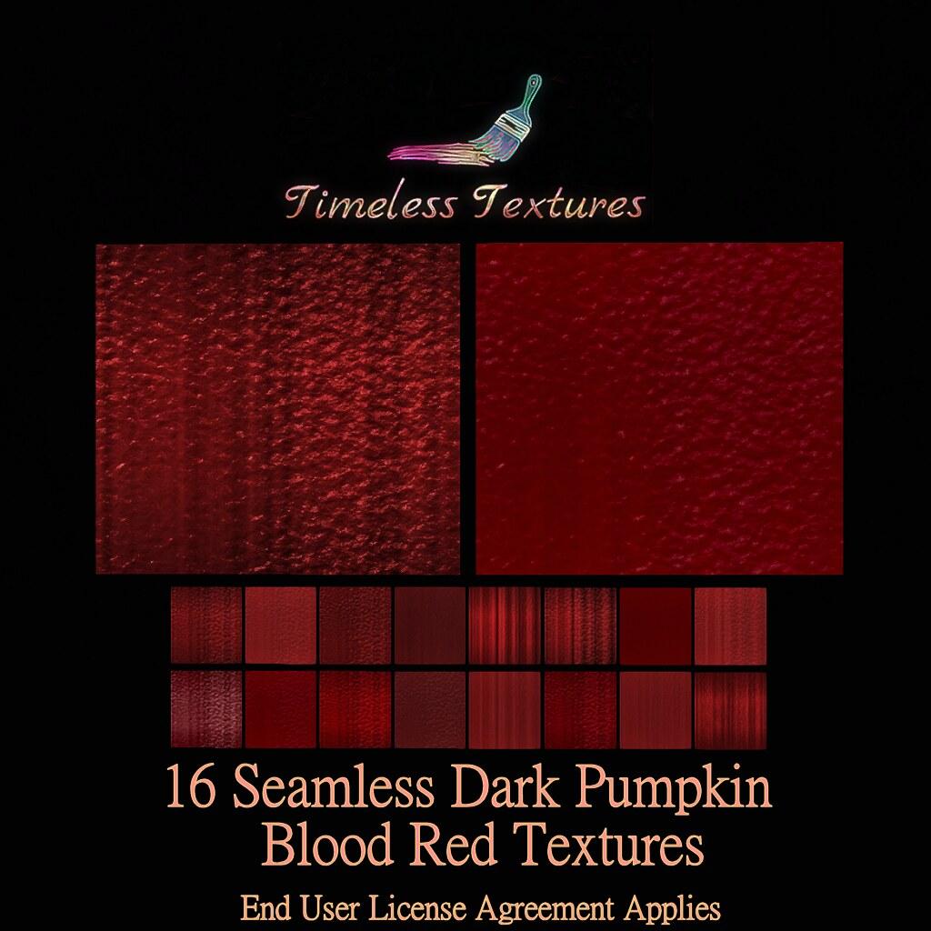 TT 16 Seamless Dark Pumpkin Blood Red Timeless Textures