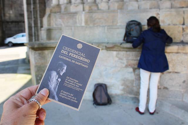 The Camino credencial, Tui Cathedral, Tui