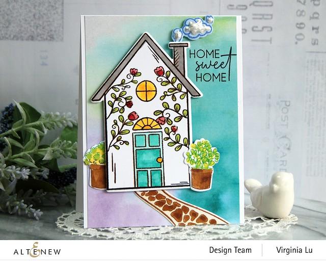 Altenew-HomeSweet Home Stamp & Die Bundle-Gel Printing Soft Washes 6x6 Paper Pack