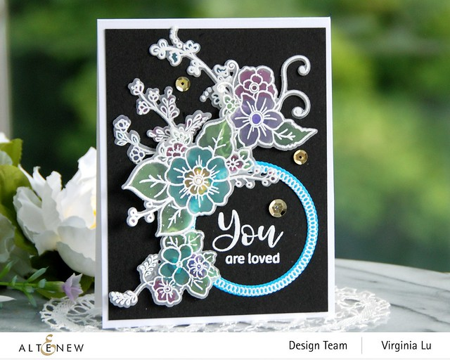 Altenew-Floral Halos Stamp Set-Floral Halos Die Set-001