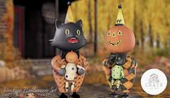 Vintage Halloween Decor Set