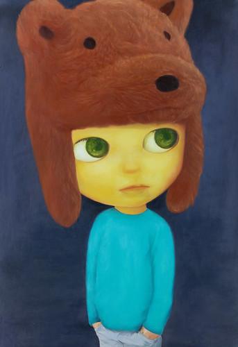 Bear Boy, Oil on canvas 51.3 x 35.2. From Artist Spotlight: Mayuka Yamamoto