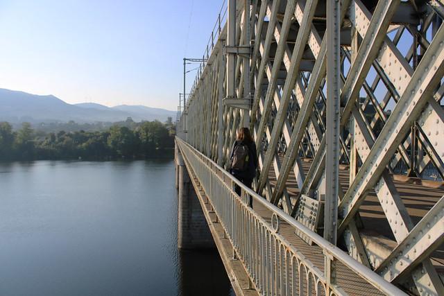 Crossing bridge between Valença and Tui