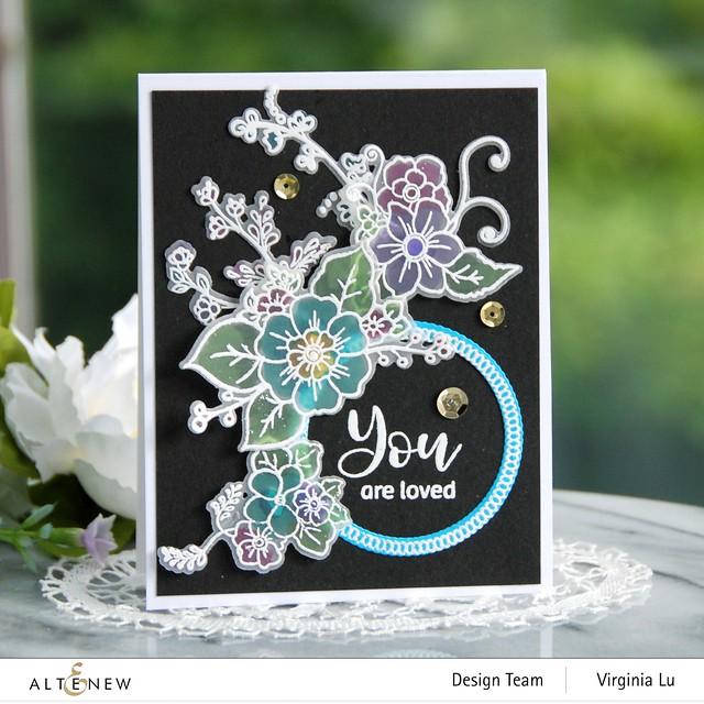 Altenew-Floral Halos Stamp Set-Floral Halos Die Set