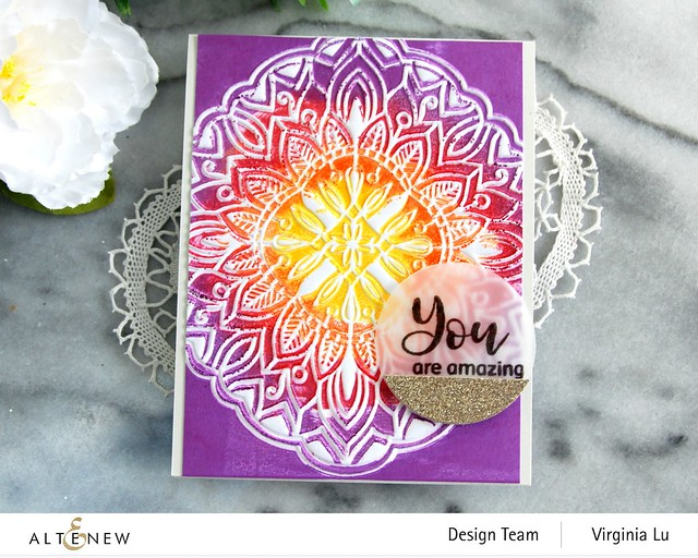 Altenew-Diamond Mandala 3D Embossing Folder-Floral Holo Stamp & Die Bundle -003